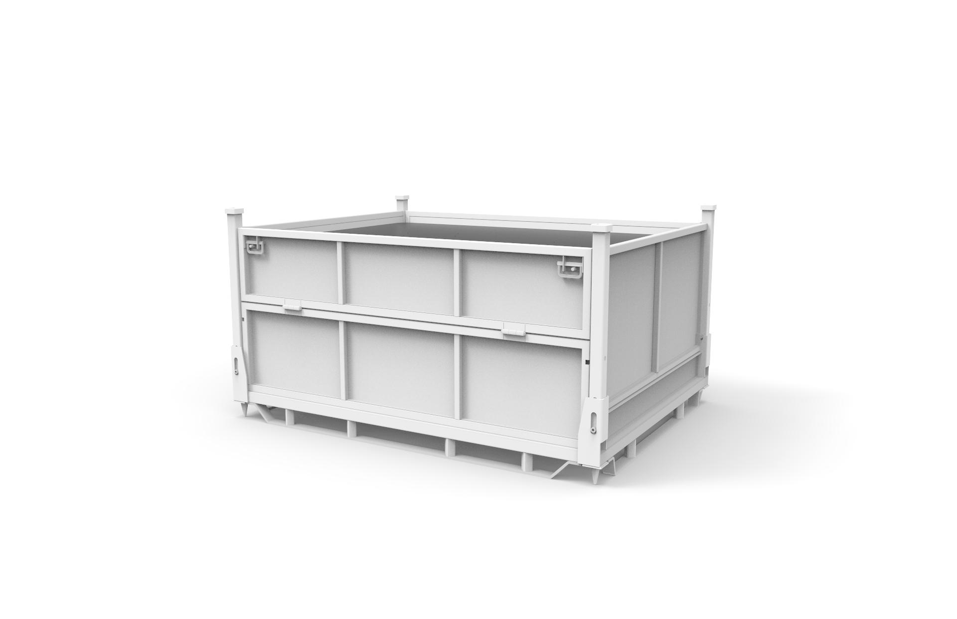 工业包装折叠铁箱配套吸塑方案